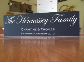 family name sign